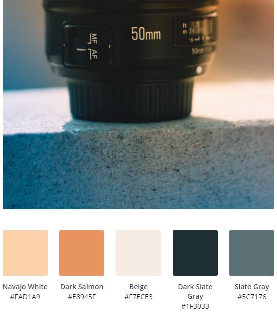 Orange Web Design Colour Palette