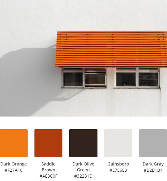 Retro Website Colour Scheme 15