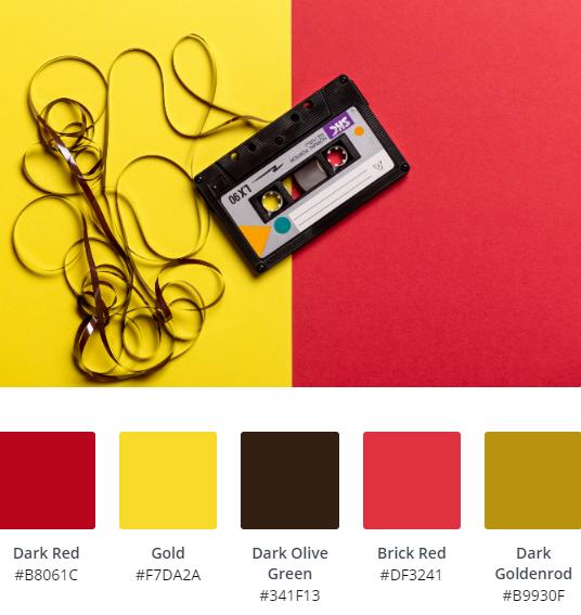 Cassette Tape Website Colour Scheme