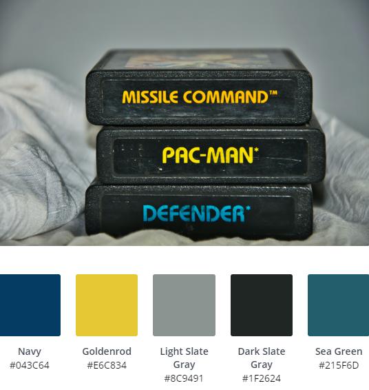 Retro Gaming Colour Scheme