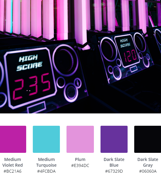 Neon Website Colour Scheme