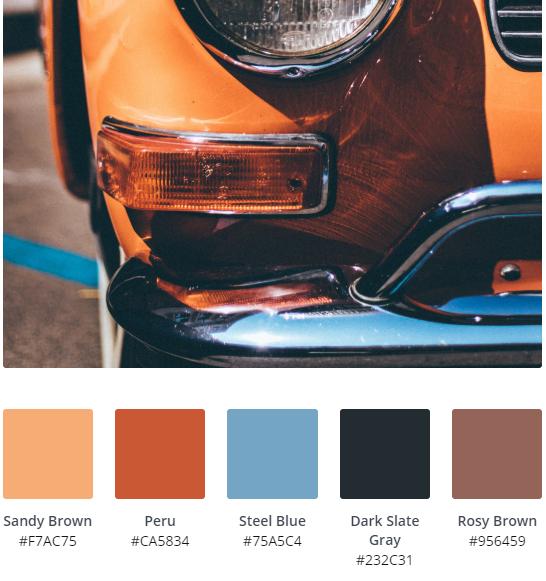 Warm Vintage Design Colours