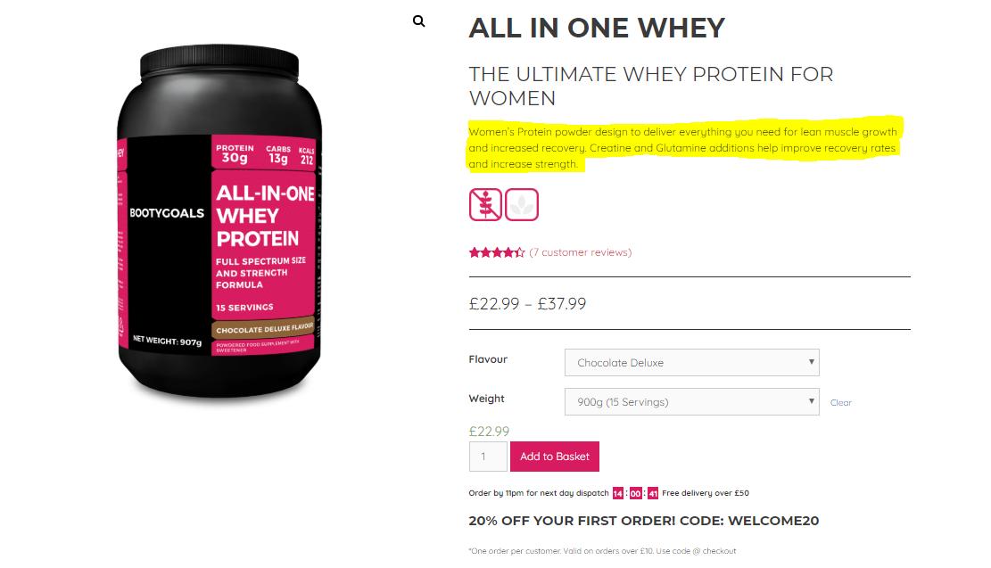 WooCommerce Product Short Description Example