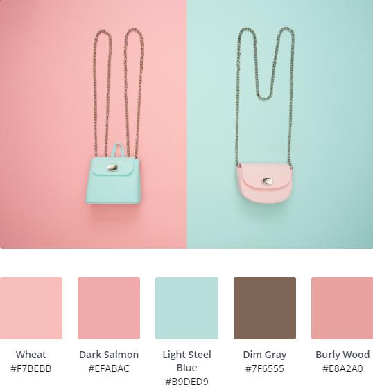 Pastel Website Colour Scheme