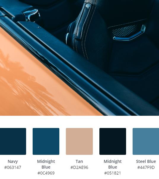 Luxury Website Colour Scheme 2