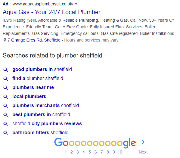 Google Ads & Related Searches