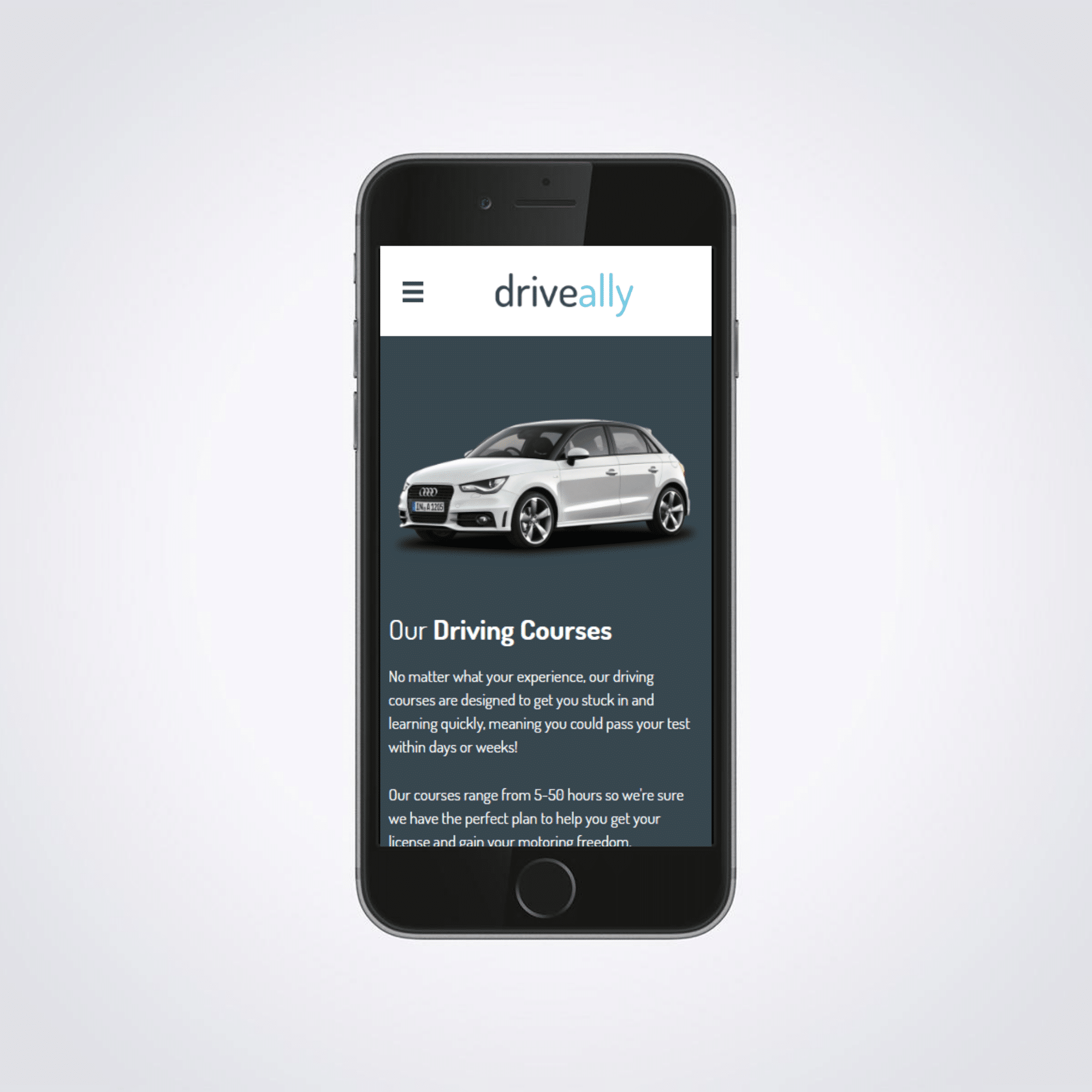 DriveAlly Mobile Friendly eCommerce Website