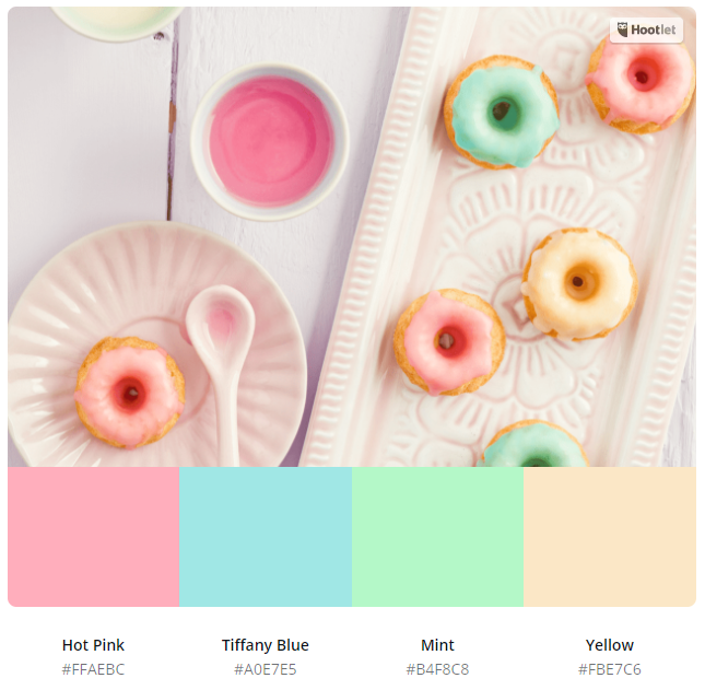 Uploading your favourite pictures will pick out a selection of hex codes for your theme.