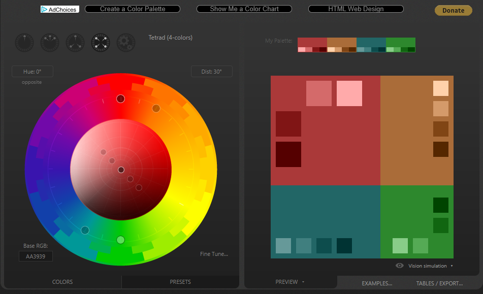 Paletton Website Colour Wheel